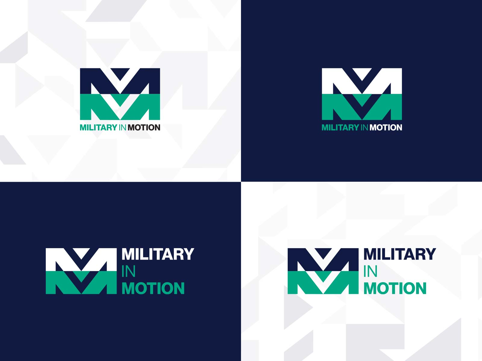 Military in Motion identity